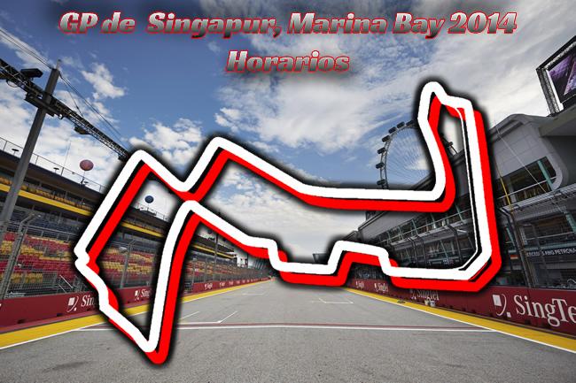 Gran Premio Singapur, Marina Bay 2014 - Horarios