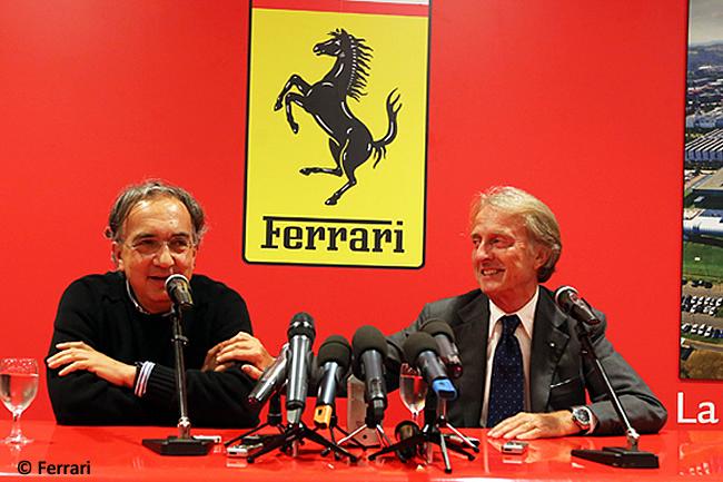 Luca di Montezemolo - Sergio Marchione - Rueda de Prensa - Scuderia Ferrari