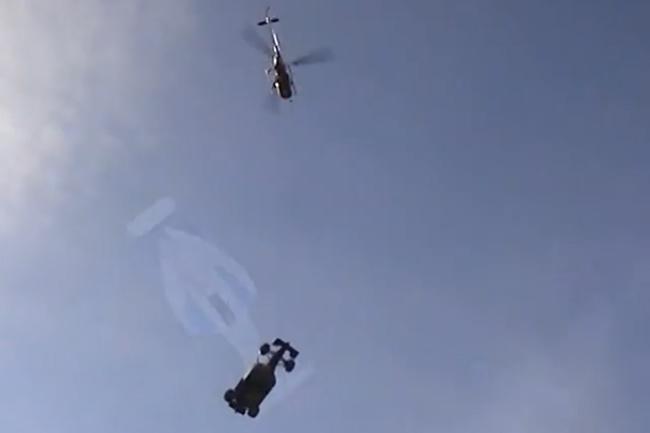 Helicoptero Monoplaza - Grúa