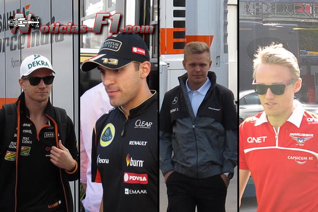 Nico Hulkenberg - Pastor Maldonado - Kevin Magnussen - Max Chilton - 2014 - www.noticias-f1.com