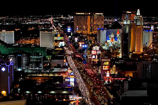 Strip - Las Vegas - Noche - EE. UU