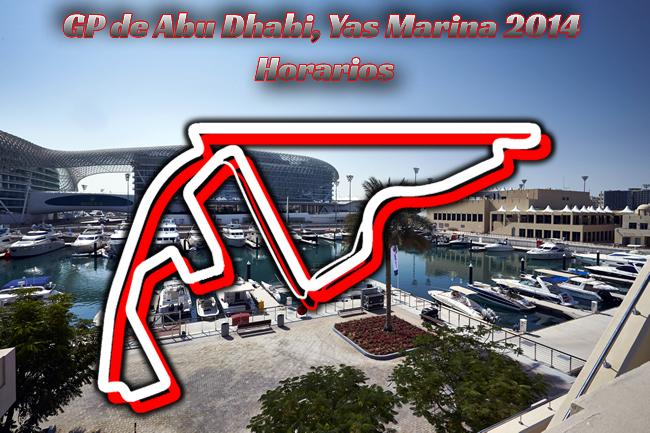 Gran Premio de Abu Dhabi - Yas Marina - Horarios