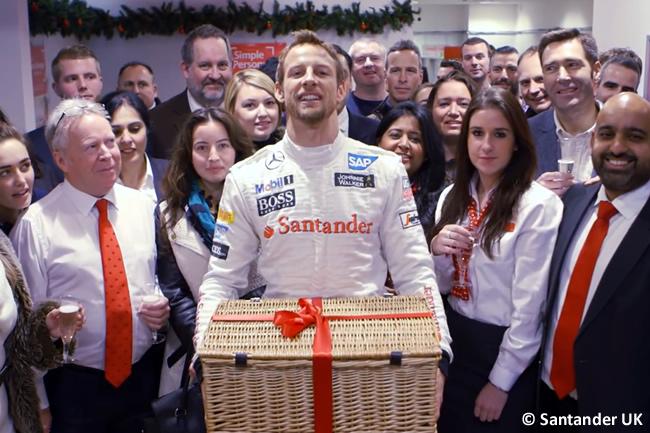 Jenson Button - Santander UK - Secret Santa