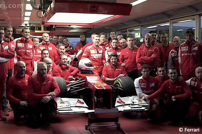 Video Sebastian Vettel - Scuderia Ferrari - Debut