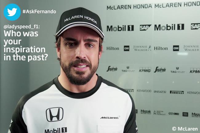 Fernando Alonso - McLaren - Pretemporada - Twitter AskFernando - 2015