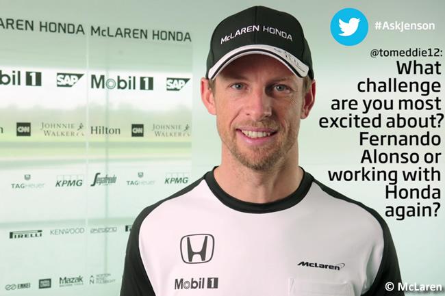Jenson Button - McLaren - Pretemporada 2015 - AskJenson Twitter