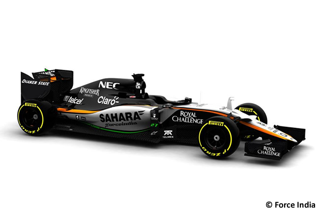 VJM08 - Sahara Force India - Imagen Previa 2º Test Barcelona Pretemporada 2015