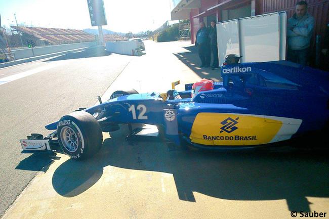Felipe Nasr - Sauber - Test Barcelona Pretemporada 2015 - Día 4