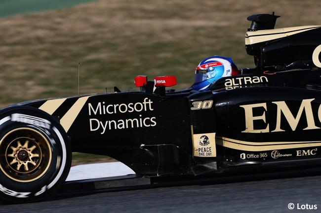 Jolyon Palmer Lotus - Test pretemporada 2015 - Barcelona - Día 2