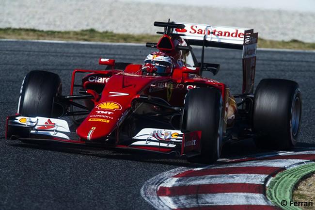 Kimi Raikkonen - Scuderia Ferrari - Test Pretemporada 2015 - Barcelona - Día 2
