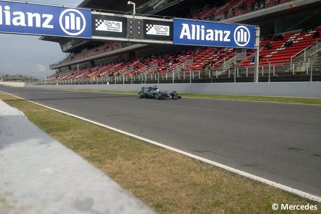 Lewis Hamilton - Mercedes - Test Pretemporada 215 - Día 3 Barcelona