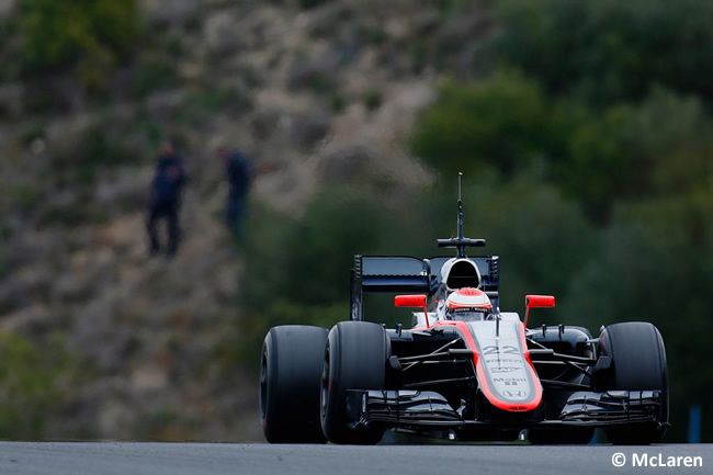 McLaren - Honda - Jenson Button - MP4-30 - Jerez - Día 2 - Test 2015