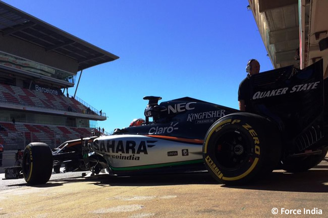 Nico Hulkenberg - Force India  - Test Barcelona Pretemporada 2015 - Día 4