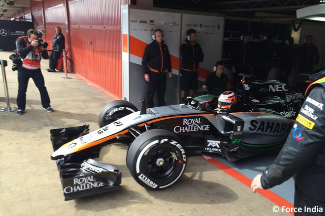 Nico Hulkenberg - Force India - VJM08 -  Día 2- Test Barcelona 2 - Pretemporada 2015 - F1