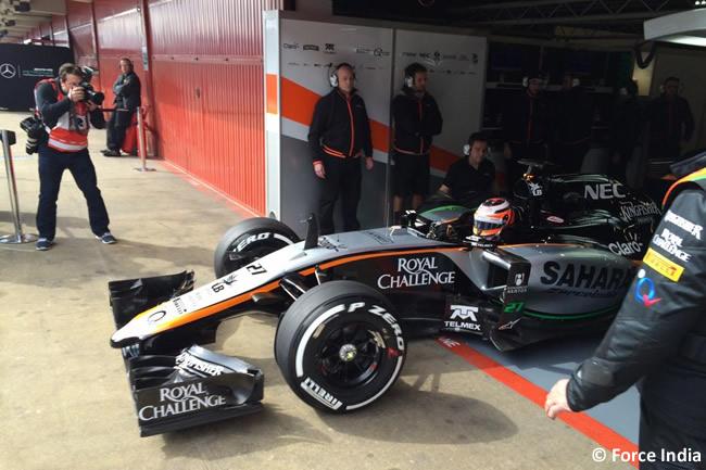 Nico Hulkenberg - Force India - VJM08 -  Día 2- Test Barcelona 2 - Pretemporada 2015 - F1