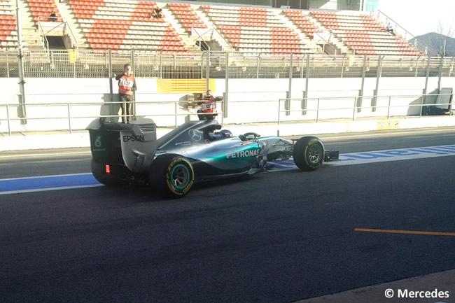 Nico Rosberg - Mercedes - Día 2- Test Barcelona 2 - Pretemporada 2015 - F1