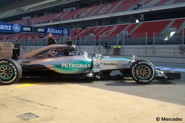 Nico Rosberg - Mercedes - Test Pretemporada 2015 - Día 2 - Barcelona