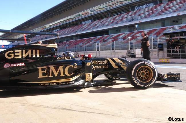Romain Grosjean - Lotus - Test Barcelona Pretemporada 2015 - Día 4