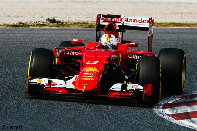 Sebastian Vettel - Scuderia Ferrari - Día 2- Test Barcelona 2 - Pretemporada 2015 - F1