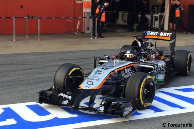 Sergio Pérez - Force India - Test Pretemporada 2015 - Barcelona  -Día 2