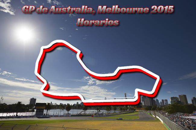 Gran Premio de Australia 2015 - Horarios