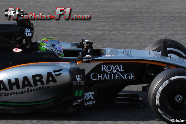 Sergio Pérez - Force India - VJM08 - 3 - 2015 www.noticias-f1.com