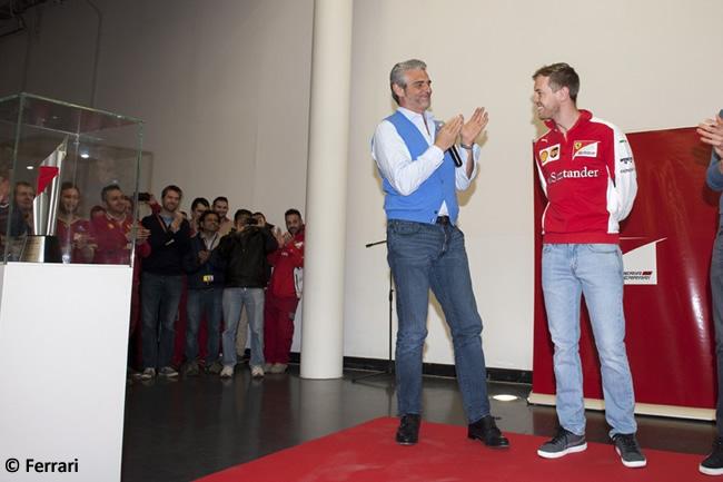 Sebastian Vettel - Scuderia Ferrari - Celebración Victoria - GP Malasia 2015 - Maranello