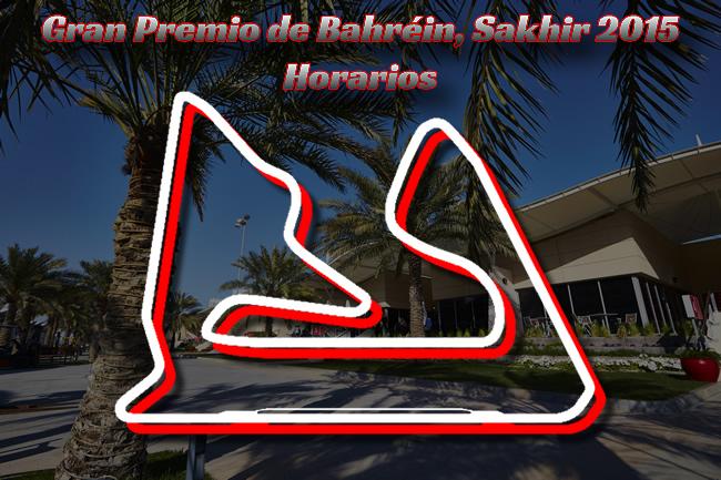 Gran Premio de Bahréin 2015 - Horarios