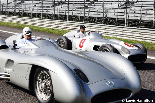 Lewis Hamilton - Stirling Moss - Mercedes