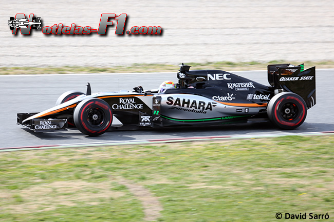 Sergio Pérez - VJM08 - 2015 - Sahara Force India - David Sarró - www.noticias-f1.com