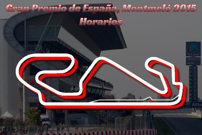 Horarios Gran Premio de España 2015