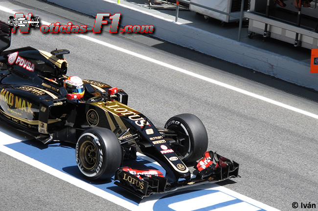 Romain Grosjean - Lotus - 2015 - www.noticias-f1.com