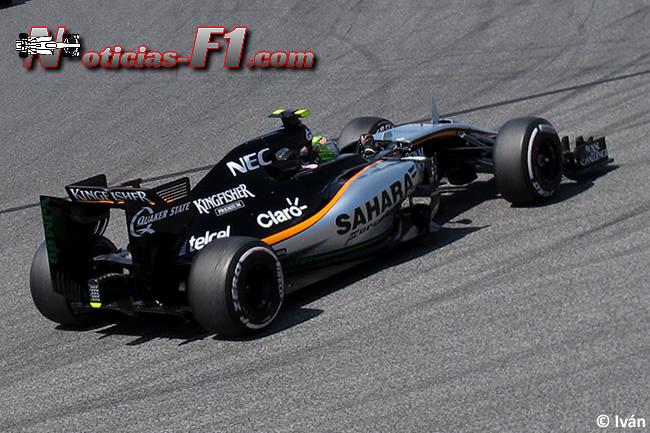 Sergio Pérez - Force India - 2015 - www.noticias-f1.com