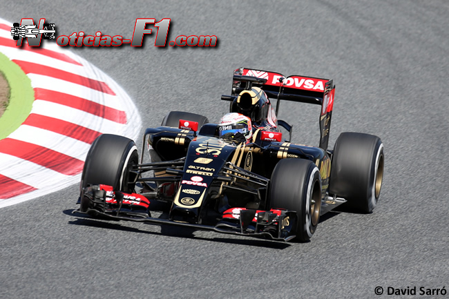 Romain Grosjean - Lotus 2015 - David Sarró - www.noticias-f1.com