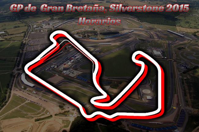 Horarios Gran Premio de Gran Bretaña 2015