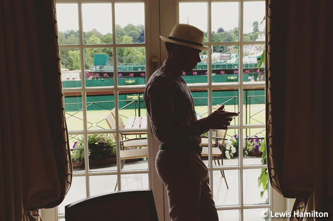 Lewis Hamilton Wimbledon 2015