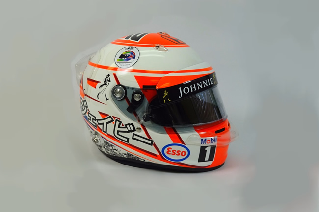 Casco Jenson Button - Subasta Justin Wilson