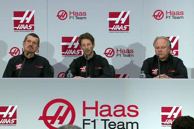 Haas F1 Team - Alineación anuncio - Romain Grosjean