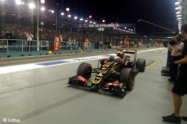 Romain Grosjean - Lotus - Singapur 2015