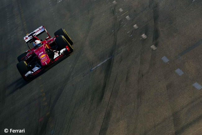 Sebastian Vettel - Scuderia Ferrari - Singapur 2015