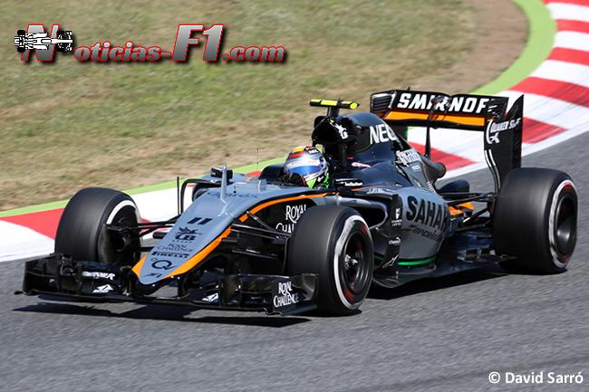Sergio Pérez - Force India 2015 - David Sarró - www.noticias-f1.com