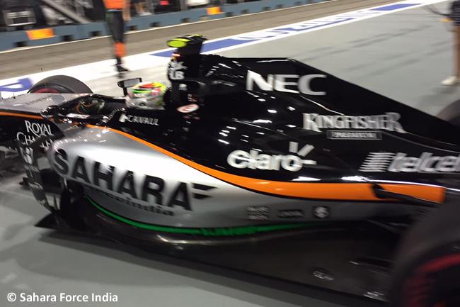 Sergio Pérez - Force India - Singapur 2015