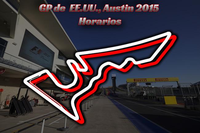 Gran Premio de Estados Unidos - Austin 2015 - Horarios