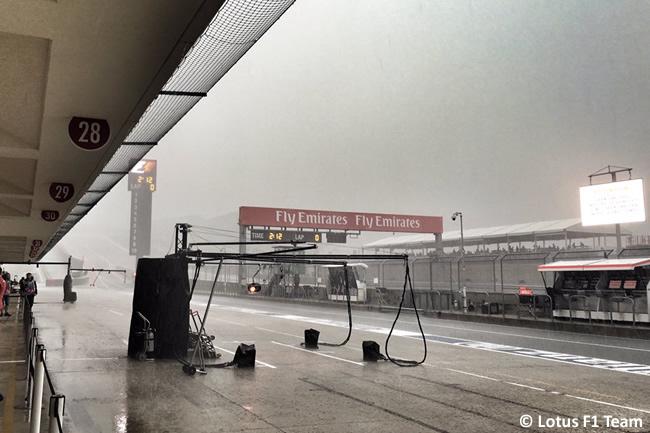 Pit lane - Gran Premio de Estados Unidos 2015 - Austin ©Lotus