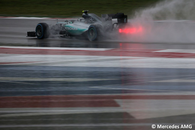 Nico Rosberg Mercedes AMG - Calificación Gran Premio de Estados Unidos