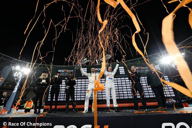 ROC Copa Naciones 2015 Podio Andy Priaulx - Jason Plato