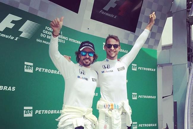 Fernando Alonso - Jenson Button - McLaren Podio