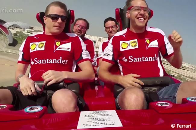 Kimi Raikkonen - Sebastian Vettel - Ferrari Wolrd 2015