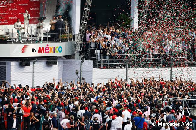 Podio - Nico Rosberg - Lewis Hamilton - Gran Premio México 2015