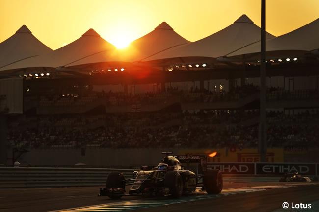 Romain Grosjean Lotus - GP Abu Dhabi 2015